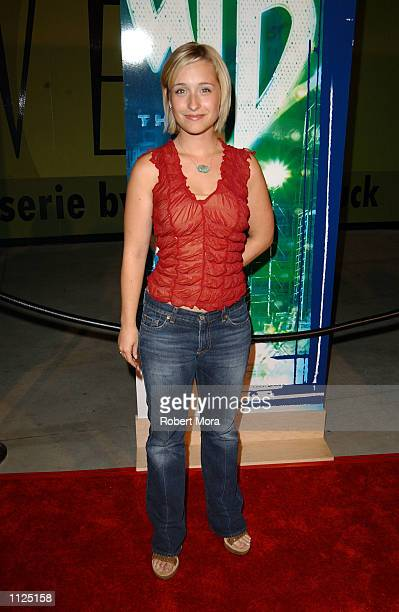 Actress Allison Mack attends the WB Network's 2002 Summer Party at the Renaissance Hollywood Hotel on July 13 2002 in Hollywood California