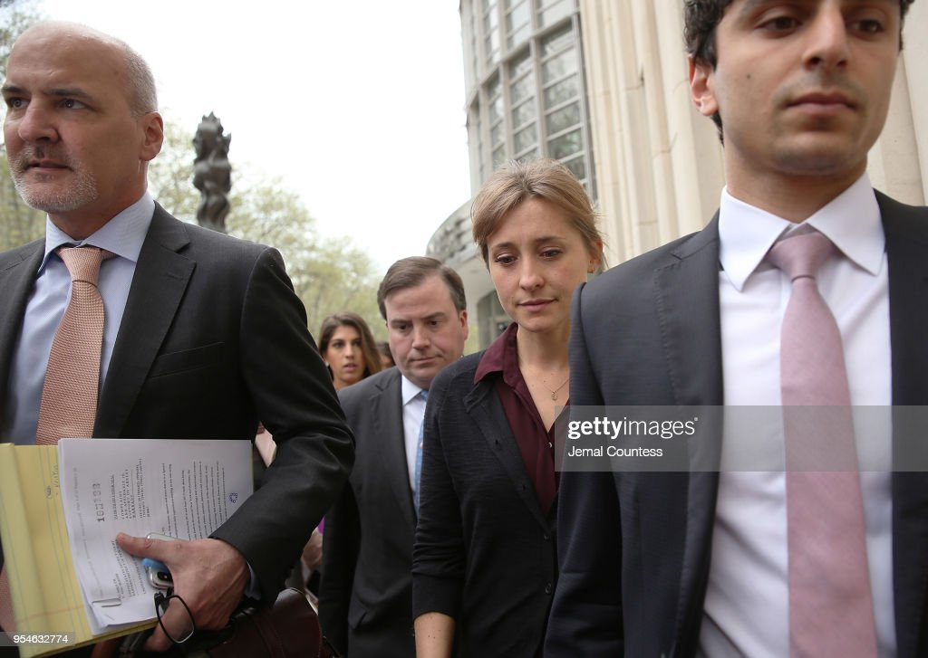 Actress Allison Mack Attends Court Over Sex Trafficking Charges : News Photo