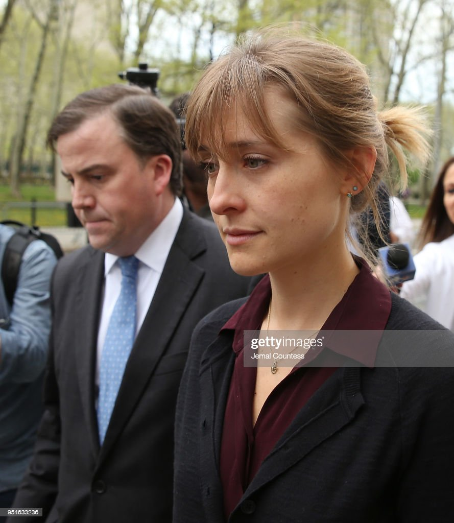 Actress Allison Mack Arrives At Court Over Sex Trafficking Charges : News Photo