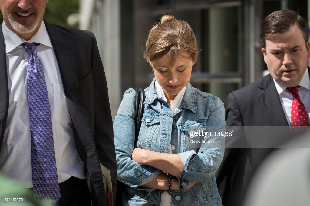 Cult Leader And Actress Charged With Sex Trafficking Operation Return To Court : News Photo
