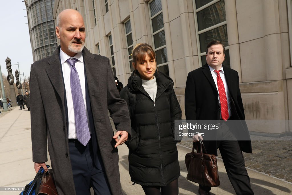 Actress Allison Mack Leaves Court With Her Lawyers After Court Appearance For The NXIVM Sex Cult Case : News Photo