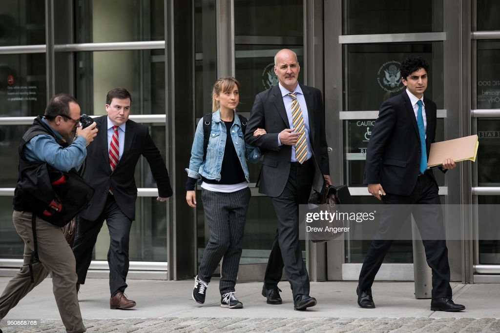 Actress Allison Mack Appears In Court Over Case Involving Alleged Sex Cult : News Photo