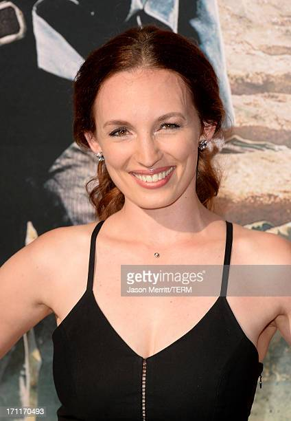 Actress Allison Marie Volk attends the premiere of Walt Disney Pictures' 'The Lone Ranger' at Disney California Adventure Park on June 22 2013 in...