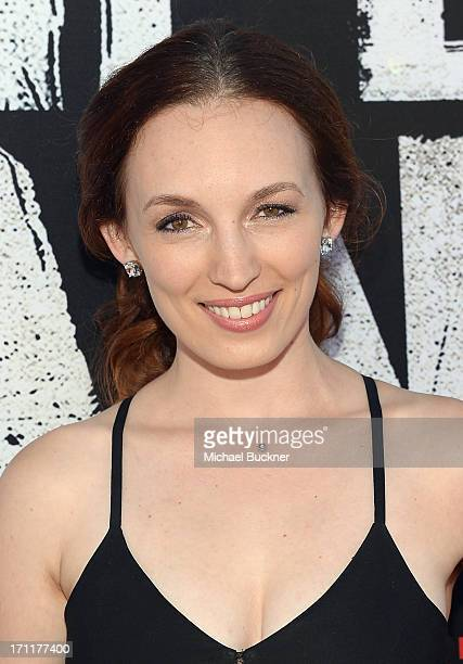 Actress Allison Marie Volk attends The World Premiere of Disney/Jerry Bruckheimer Films' 'The Lone Ranger' at Disney California Adventure Park on...