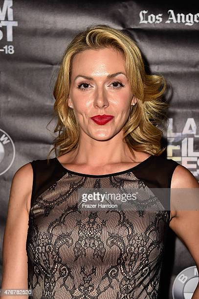 Actress Allison McAtee arrives a the 2015 Los Angeles Film Festival 'Too Late' Premiere at LACMA on June 11 2015 in Los Angeles California