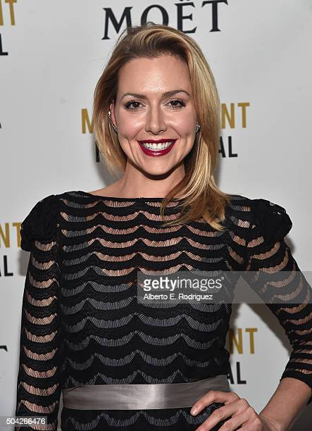 Actress Allison McAtee attends Moet Chandon Celebrates 25 Years at the Golden Globes on January 8 2016 in West Hollywood California