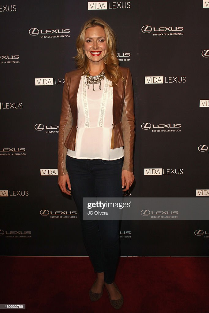Actress Allison McAtee attends Sabor de Lujo at Vida Lexus event celebrating latino culture in Los Angeles at Sofitel Hotel on March 25, 2014 in Los Angeles, California.