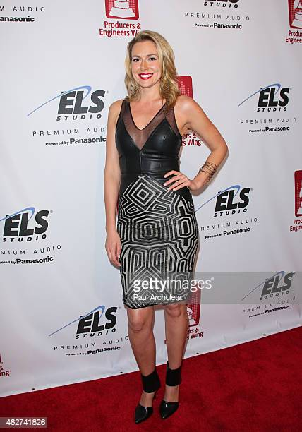 Actress Allison McAtee attends the 8th Annual GRAMMY week celebration at The Village Recording Studios on February 3 2015 in Los Angeles California