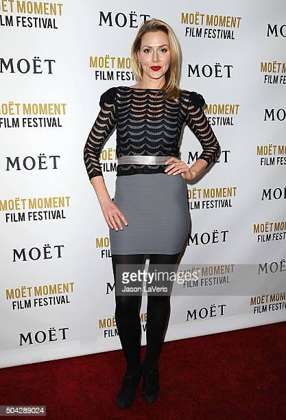 Actress Allison McAtee attends the Moet and Chandon celebration of The Golden Globes on January 8 2016 in West Hollywood California
