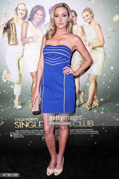 Actress Allison McAtee attends the premiere Of Tyler Perry's 'The Single Moms Club' at ArcLight Cinemas Cinerama Dome on March 10 2014 in Hollywood...