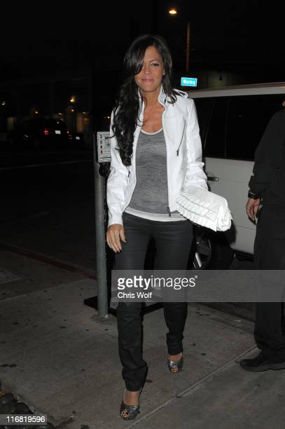 Actress Allison Melnick arrives at STK on May 22 2008 in West Hollywood California