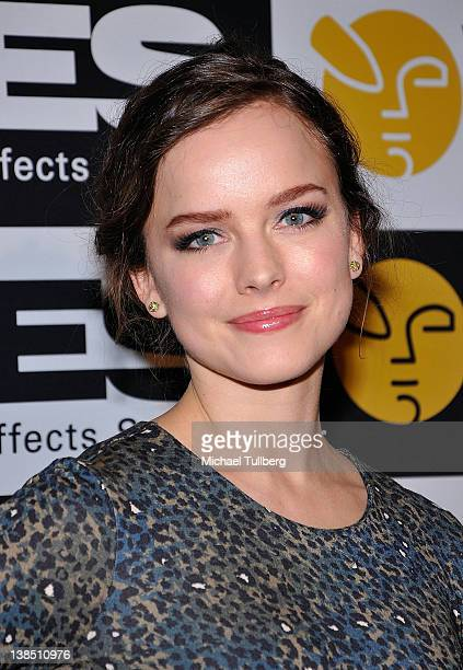 Actress Allison Miller arrives at the 10th Annual Visual Effects Society Awards at The Beverly Hilton hotel on February 7 2012 in Beverly Hills...