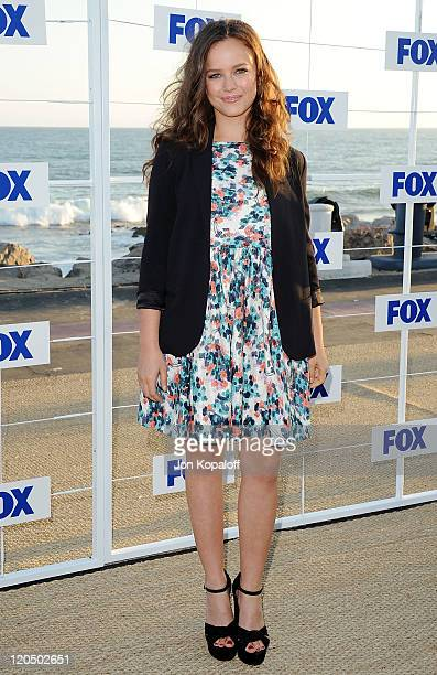 Actress Allison Miller arrives at the 2011 FOX AllStar Party at Gladstone's Malibu on August 5 2011 in Malibu California