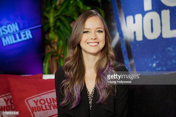 Actress Allison Miller at the Young Hollywood Studio on October 17 2011 in Los Angeles California