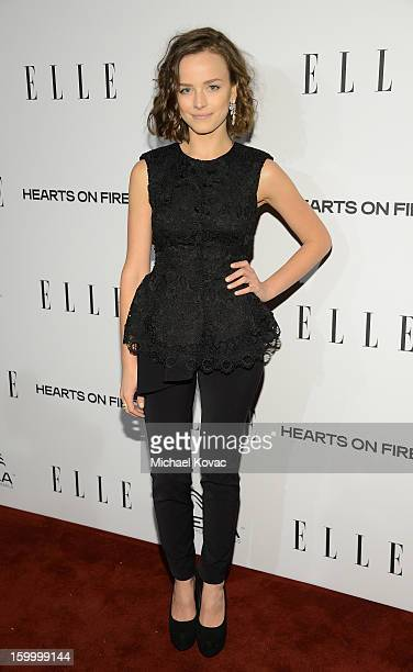 Actress Allison Miller attends the ELLE's Women in Television Celebration at Soho House on January 24 2013 in West Hollywood California