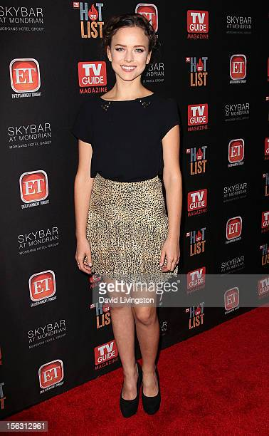 Actress Allison Miller attends TV Guide Magazine's 2012 Hot List Party at SkyBar at the Mondrian Los Angeles on November 12 2012 in West Hollywood...