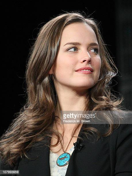 Actress Allison Miller speaks onstage during the 'Terra Nova' panel at the FOX Broadcasting Company portion of the 2011 Winter TCA press tour held at...