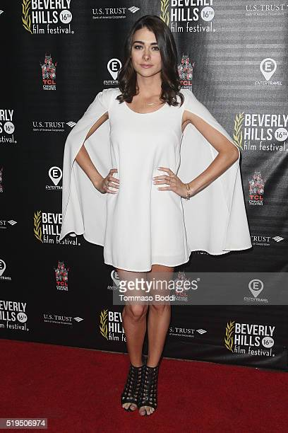 Actress Allison Paige attends the Beverly Hills Film Festival Opening Night Premiere Of 'The Lennon Report' And 'Baby Baby Baby' at TCL Chinese 6...