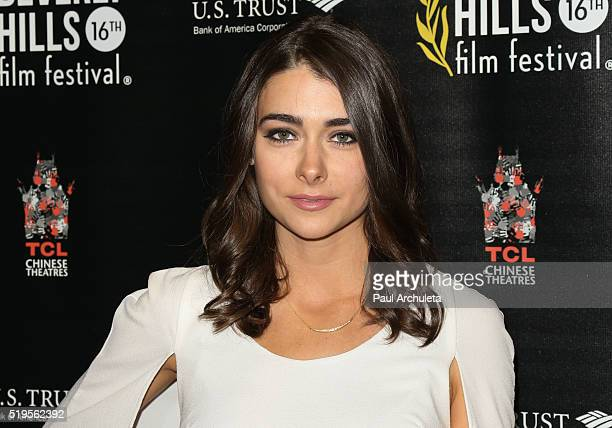 Actress Allison Paige attends the opening night of the Beverly Hills Film Festival at The TCL Chinese 6 Theatres on April 6 2016 in Hollywood...