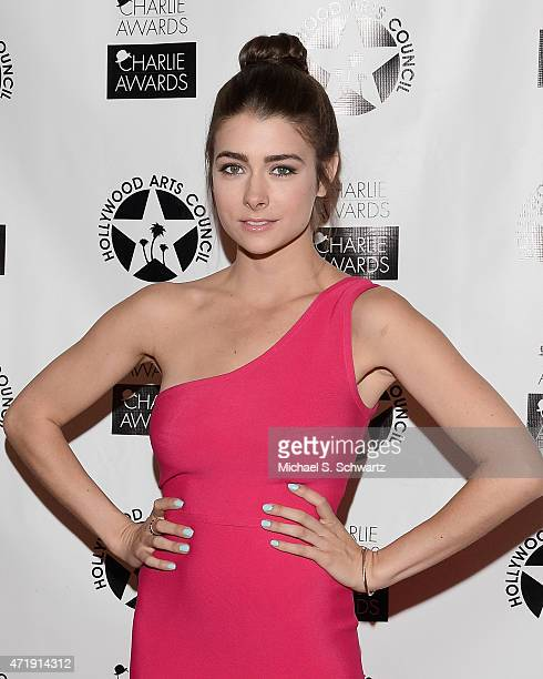 Actress Allison Paige poses during her attendance at the 29th Annual Charlie Awards Luncheon by The Hollywood Arts Council at Hollywood Roosevelt...