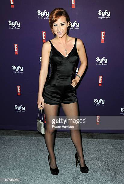 Actress Allison Scagliotti arrives at SyFy/E ComicCon Party at Hotel Solamar on July 23 2011 in San Diego California