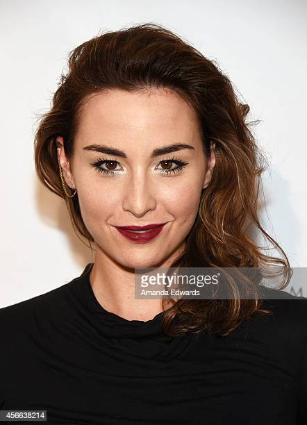 Actress Allison Scagliotti arrives at the Project Mermaids art exhibition at G2 Art Gallery on October 3 2014 in Venice California