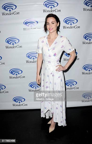 Actress Allison Scagliotti promotes Stitchers on Day 1 of WonderCon 2016 held at Los Angeles Convention Center on March 25 2016 in Los Angeles...