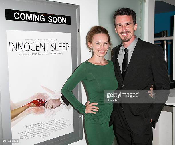 Actress Allison Volk and actor Colin Martin attend 'Innocent Sleep' Los Angeles Premiere at Downtown Independent Theater on October 3 2015 in Los...