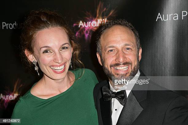 Actress Allison Volk and actor Jason Coviello attend 'Innocent Sleep' Los Angeles Premiere at Downtown Independent Theater on October 3 2015 in Los...