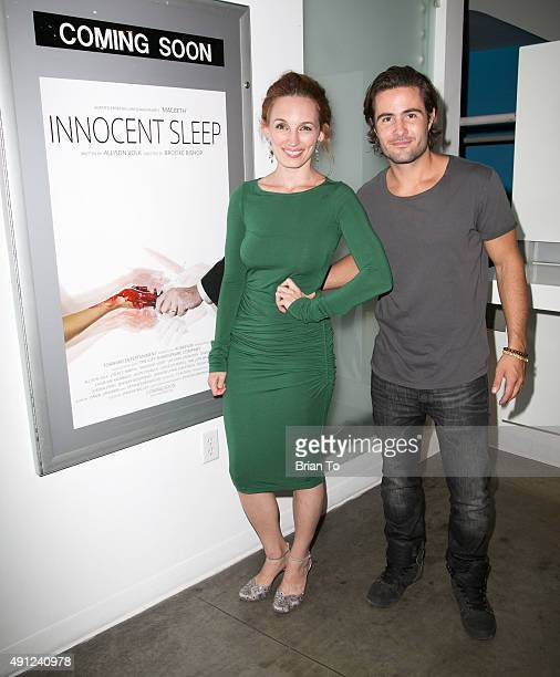 Actress Allison Volk and actor Paul Vandervort attend 'Innocent Sleep' Los Angeles Premiere at Downtown Independent Theater on October 3 2015 in Los...