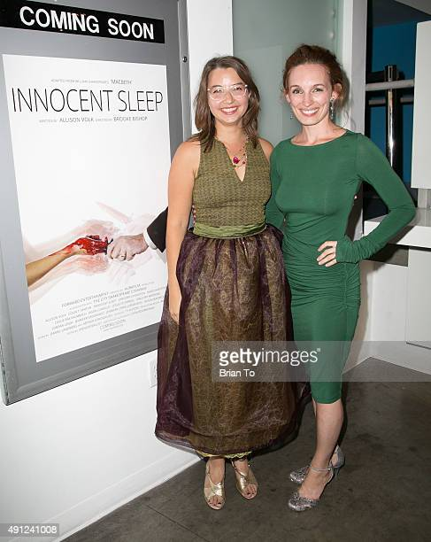 Actress Allison Volk and director Brooke Bishop attend 'Innocent Sleep' Los Angeles Premiere at Downtown Independent Theater on October 3 2015 in Los...
