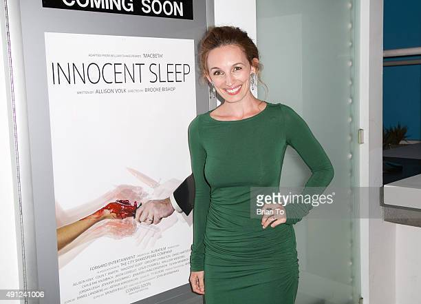 Actress Allison Volk attends 'Innocent Sleep' Los Angeles Premiere at Downtown Independent Theater on October 3 2015 in Los Angeles California