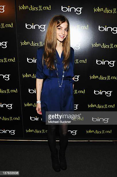 Actress Allison Weissman attends The Official 'John Dies At The End' Cast Cocktail Party presented by Bing at The Bing Bar on January 23 2012 in Park...
