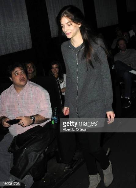 Actress Allison Weissman attends the Screening Of 'John Dies At The End' held at Landmark Nuart Theatre on January 25 2013 in West Los Angeles...