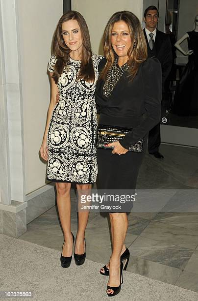 Actress Allison Williams and Actress Rita Wilson attends the Tom Ford cocktail party in support of Project Angel Food Media held at TOM FORD boutique...