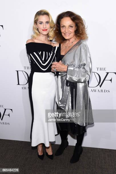Actress Allison Williams and designer Diane von Furstenberg attend the 2017 DVF Awards at United Nations Headquarters on April 6 2017 in New York City