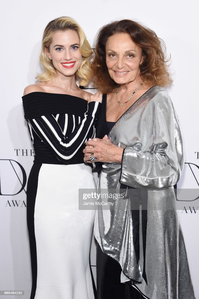 Actress Allison Williams and designer Diane von Furstenberg attend the 2017 DVF Awards at United Nations Headquarters on April 6, 2017 in New York City.