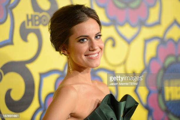 Actress Allison Williams arrives at HBO's Official After Party at The Plaza at the Pacific Design Center on September 23 2012 in Los Angeles...