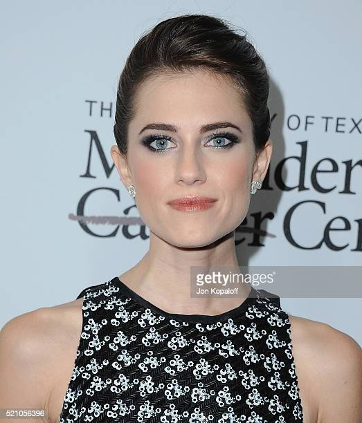 Actress Allison Williams arrives at Sean Parker And The Parker Foundation Launch The Parker Institute For Cancer Immunotherapy Gala on April 13 2016...