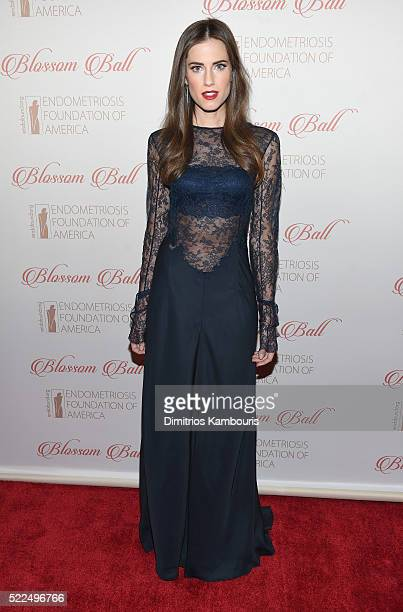 Actress Allison Williams arrives at the 8th Annual Blossom Ball benefiting the Endometriosis Foundation of America hosted by EFA Founders Padma...