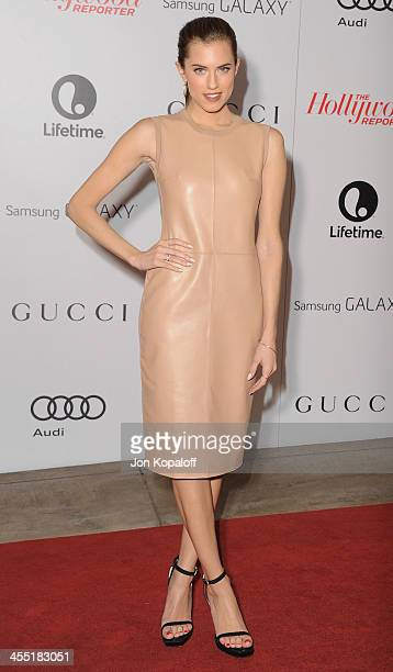 Actress Allison Williams arrives at The Hollywood Reporter's 22nd Annual Women In Entertainment Breakfast 2013 at Beverly Hills Hotel on December 11...