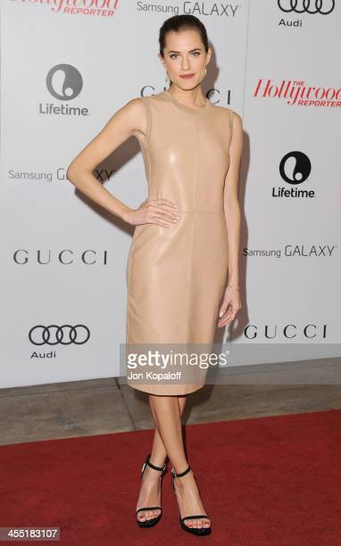 Actress Allison Williams arrives at The Hollywood Reporter's 22nd Annual Women In Entertainment Breakfast 2013 at Beverly Hills Hotel on December 11,...
