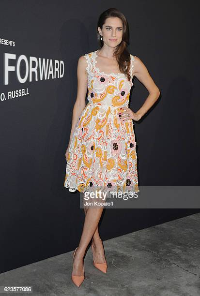 Actress Allison Williams arrives at the screening Of David O Russell's 'Past Forward' hosted by Prada at Hauser Wirth Schimmel on November 15 2016 in...