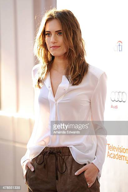 Actress Allison Williams arrives at The Television Academy Presents An Evening With Girls event at the Leonard H Goldenson Theatre on March 13 2014...