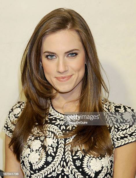 Actress Allison Williams arrives at the Tom Ford cocktail party in support of Project Angel Food at TOM FORD on February 21 2013 in Beverly Hills...