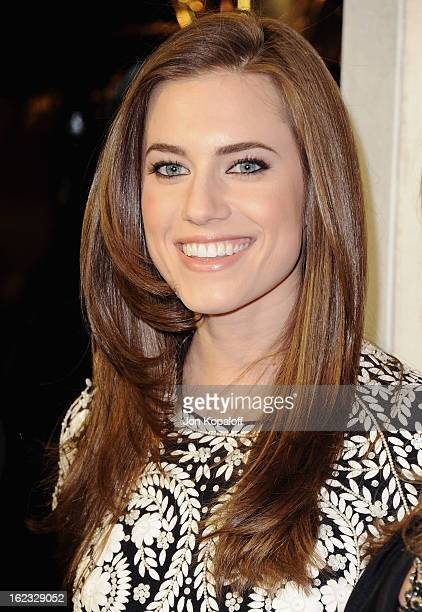Actress Allison Williams arrives at Tom Ford Cocktails In Support Of Project Angel Food Media at TOM FORD on February 21 2013 in Beverly Hills...