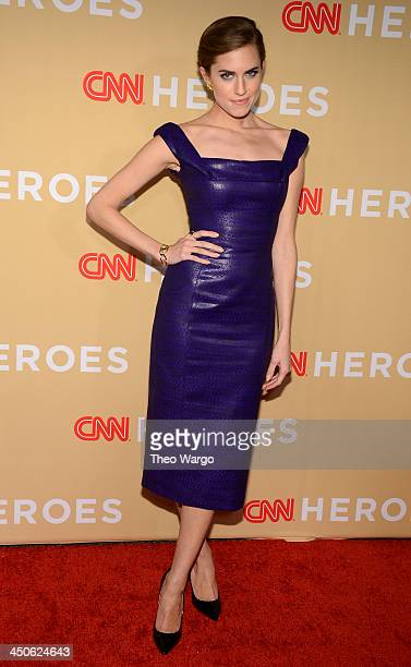 Actress Allison Williams attends 2013 CNN Heroes An All Star Tribute at The American Museum of Natural History on November 19 2013 in New York City...
