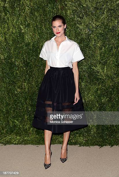 Actress Allison Williams attends CFDA and Vogue 2013 Fashion Fund Finalists Celebration at Spring Studios on November 11 2013 in New York City
