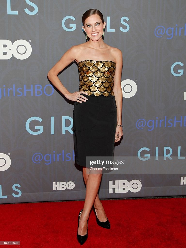 Actress Allison Williams attends HBO hosts the premiere of 'Girls' Season 2 at the NYU Skirball Center on January 9, 2013 in New York City.