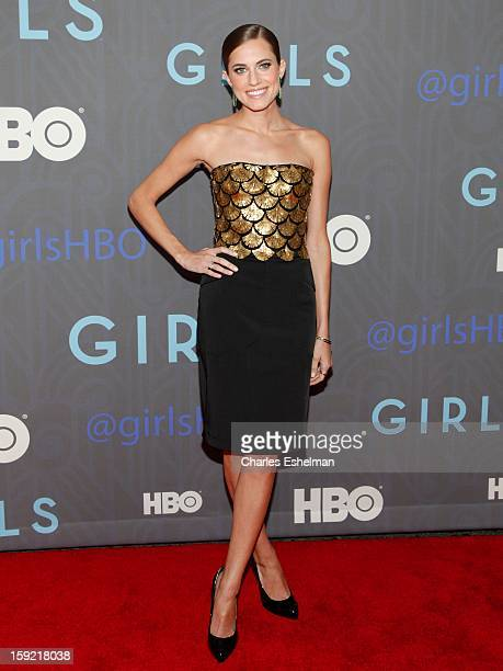 Actress Allison Williams attends HBO hosts the premiere of 'Girls' Season 2 at the NYU Skirball Center on January 9 2013 in New York City